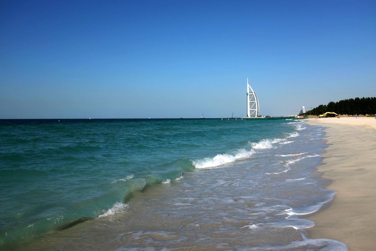 Burj Al Arab from the beach