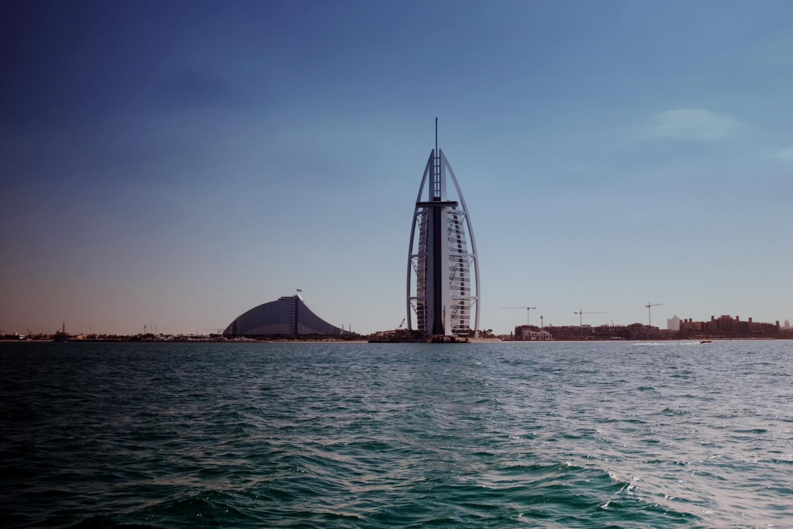 Burj Al Arab from the sea