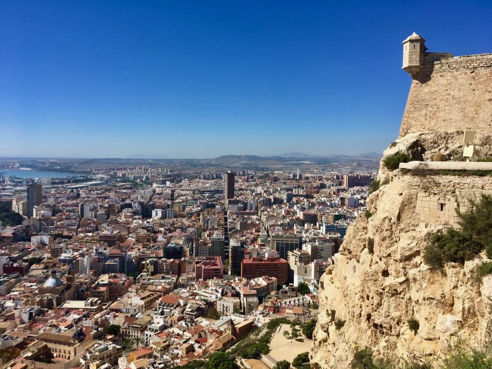 Alicante - výhled z hradu
