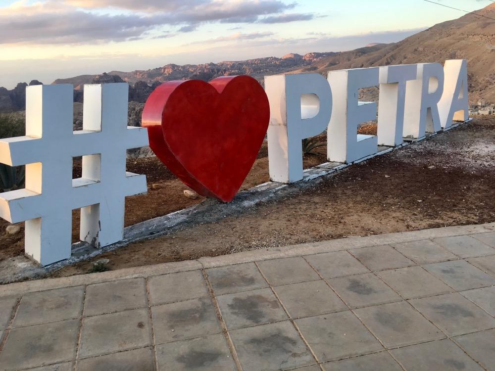 Hashtag I love Petra