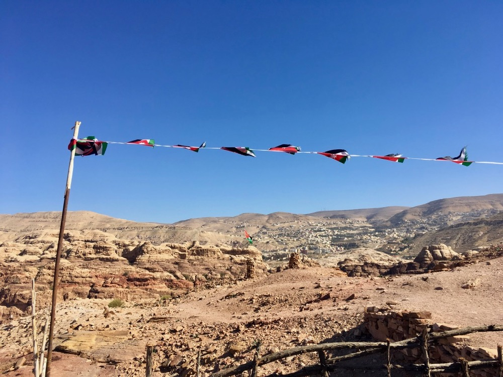Petra - u čajovny na vrcholu