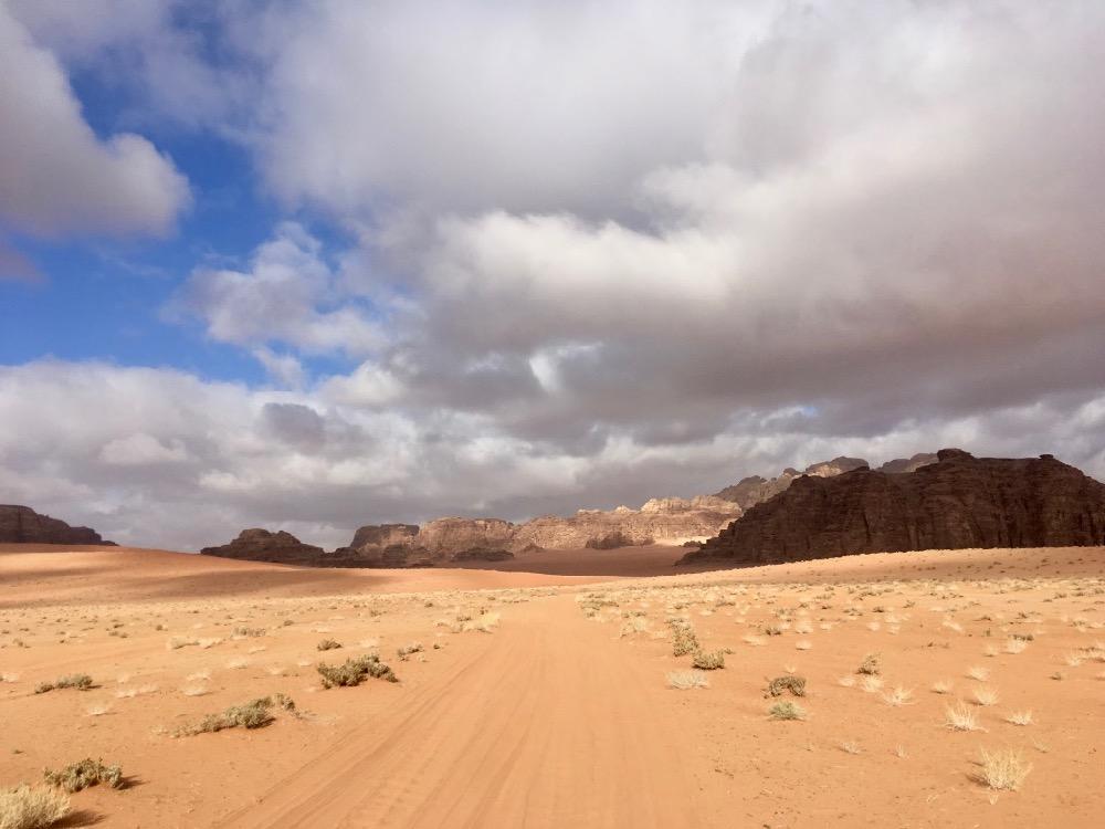 Poušť ve Wadi Rum