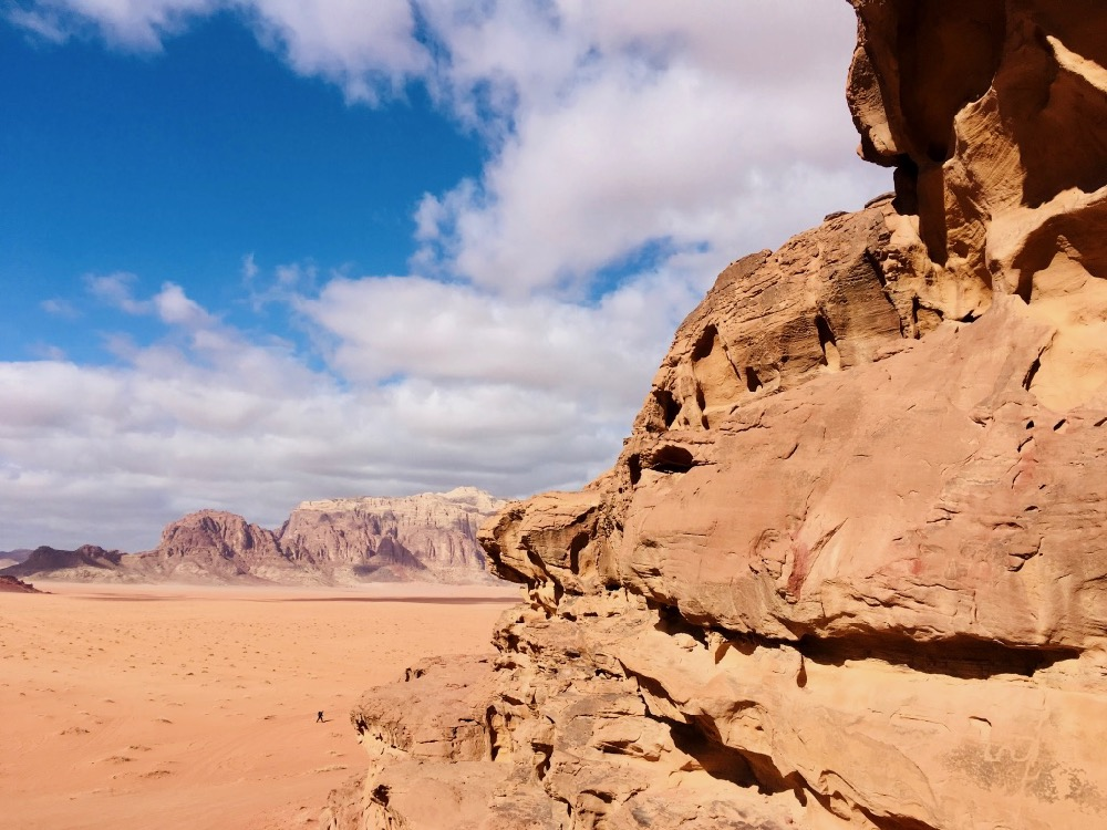 Skála ve Wadi Rum