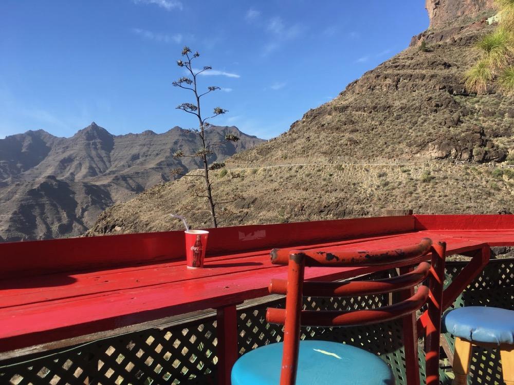 Gran Canaria - vyhlídka s barem