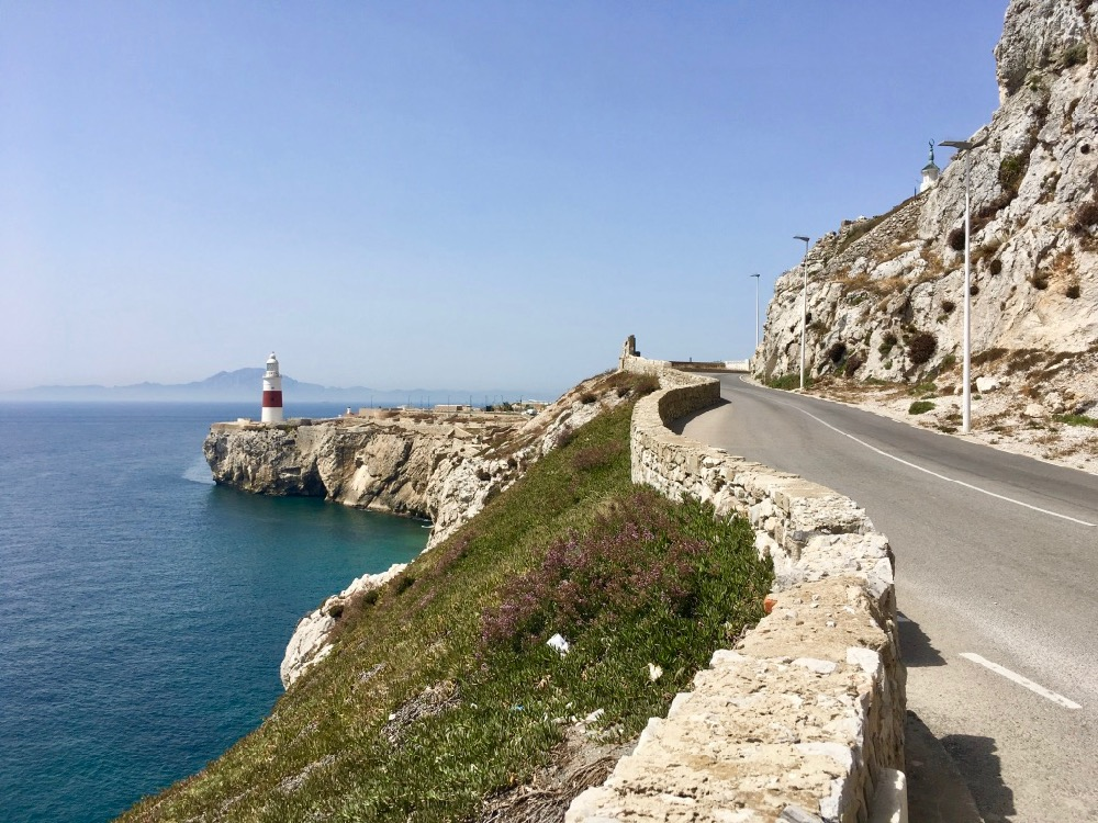 Silnice k majáku na Gibraltaru