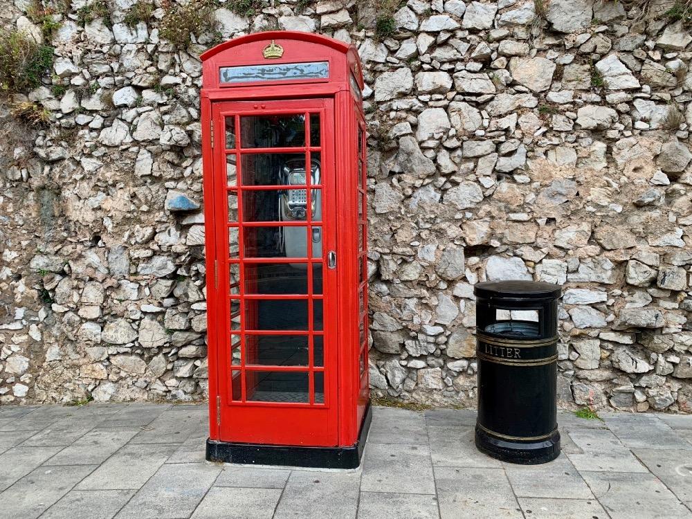 Telefonní budka na Gibraltaru