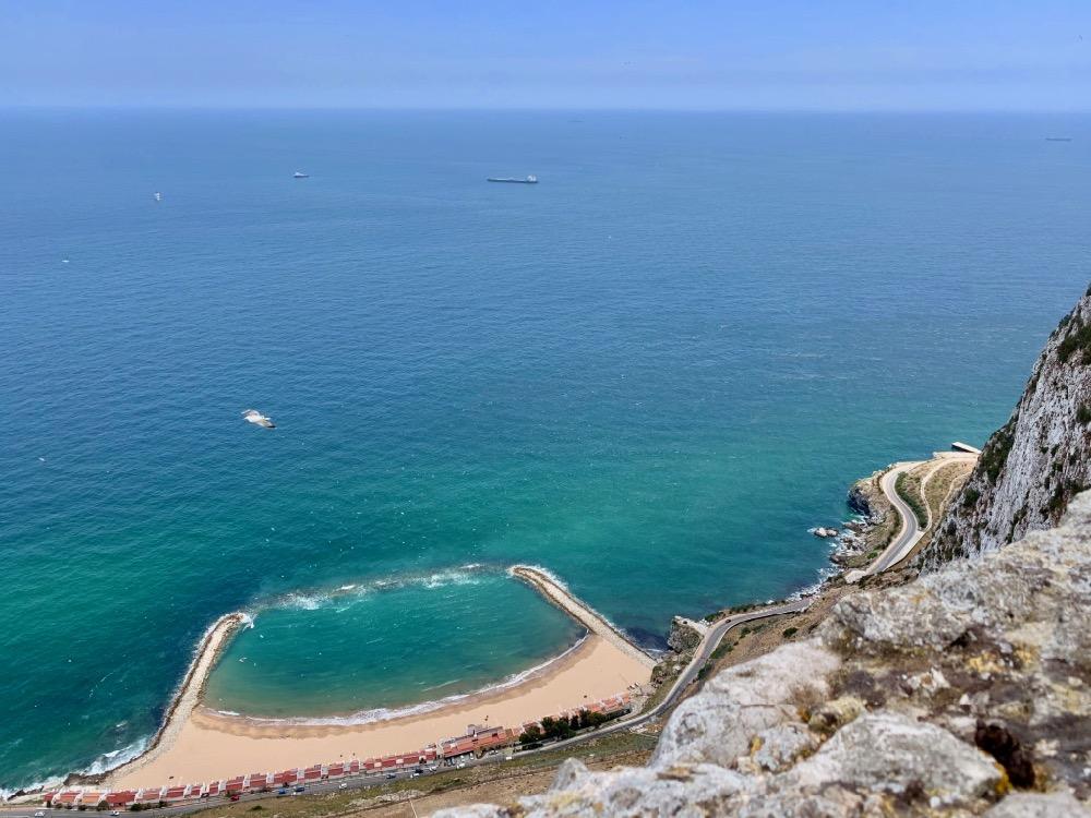Výhled ze skály - Gibraltar