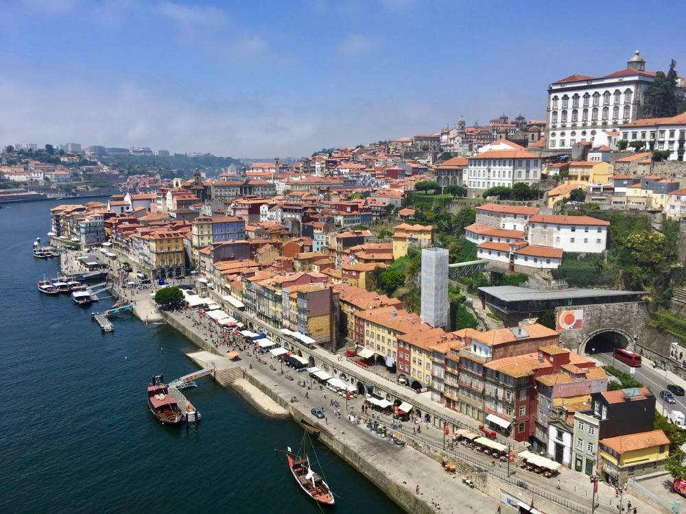 Porto - pohled z mostu